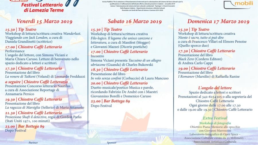 Impressioni Mobili presenta Ormeggi. Festival letterario di Lamezia Terme dal 15 al 17 marzo 2019