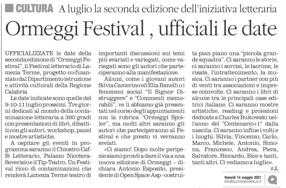 Ormeggi Festival, ufficiali le date